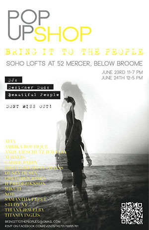 Bring it to the People Fashion Designer Pop-Up