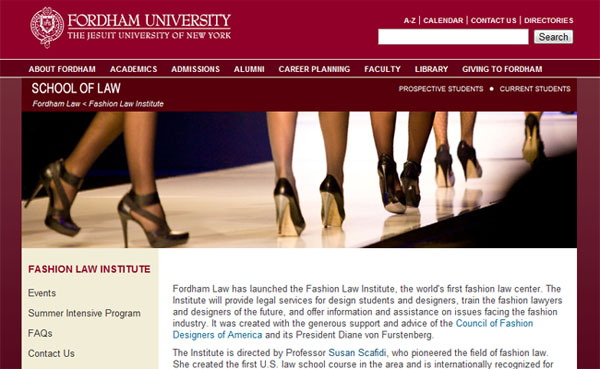 Fordham Law Fashion Law Institute