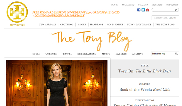 Tory Burch blog