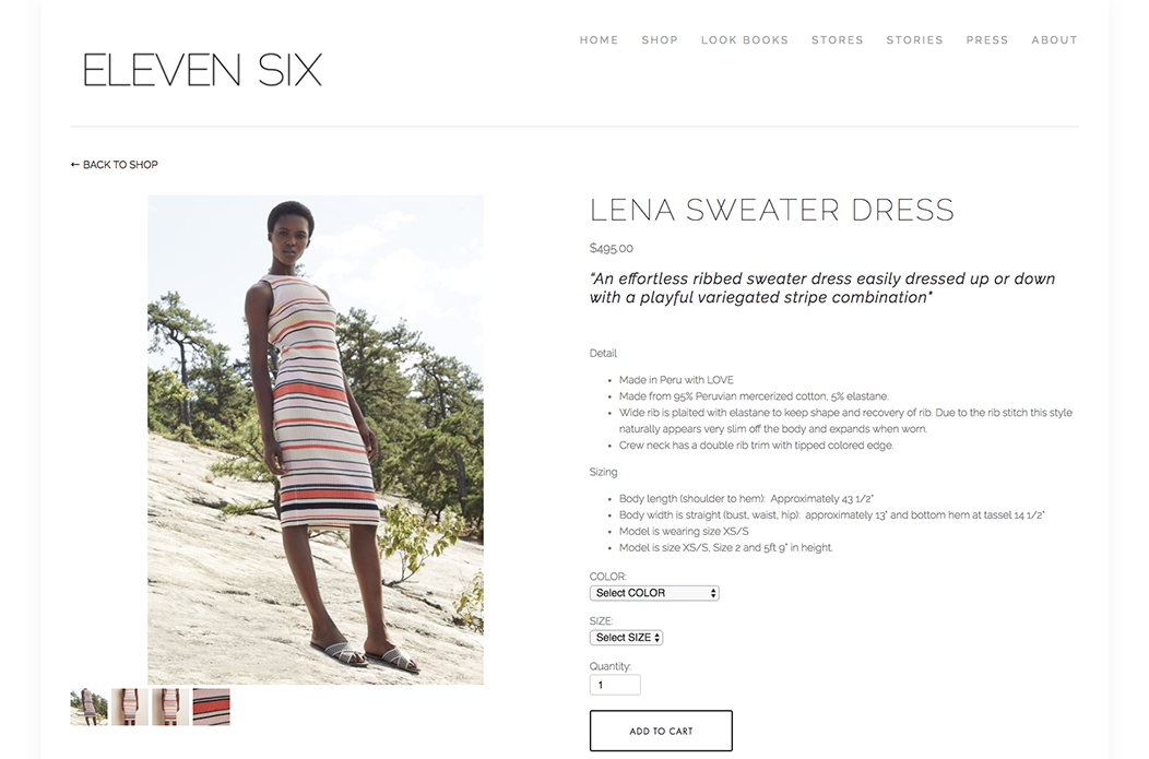 ELEVEN SIX FASHION BRAND ECOMMERCE