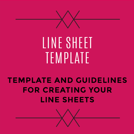 Wholesale Line Sheet Template